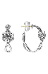 Lagos Women's 'Love Knot' Hoop Earrings