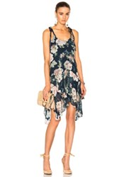 Lover Dahlia Drop Waist Dress In Navy Floral Navy Floral
