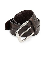 Brioni Tang Buckle Leather Belt Ebony