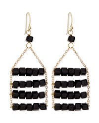 Jules Smith Designs Jules Smith Beaded Layer Earrings Black