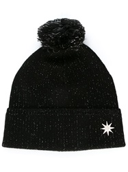 Love Moschino Pom Pom Knit Beanie Black