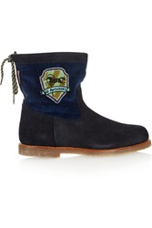 Penelope Chilvers Zuri Corduroy Paneled Suede Boots