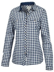 Fat Face Classic Fit Gingham Shirt Navy