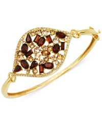 Sis By Simone I Smith Multi Crystal Marquise Bangle Bracelet In 18K Gold Over Sterling Silver