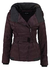 More And More Down Jacket Dark Cassis Anthracite
