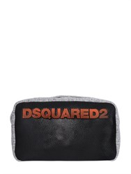 Dsquared2 Logo Jersey And Mesh Toiletry Bag