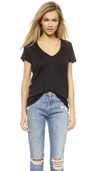 David Lerner Super Deep V Neck Tee Black