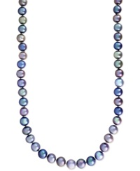Effy Collection Effy Multi Color Cultured Freshwater Pearl Necklace In Sterling Silver 7 1 2Mm