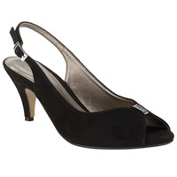 John Lewis Dainty Sling Back Kitten Heeled Sandals Black