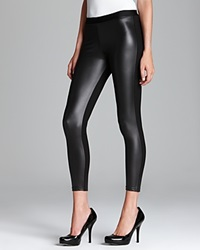 Tag Elemental Tag Leggings Pleather Front Leggings Black