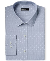 Bar Iii Slim Fit Blue Dot Dobby Stripe Dress Shirt Only At Macy's