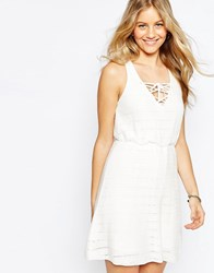 Asos Sun Dress In Lace Stitch White