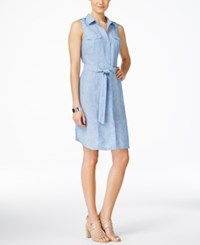 Inc International Concepts Petite Linen Chambray Shirtdress Only At Macy's