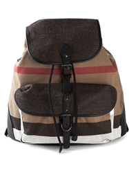 Burberry Checked Backpack Black