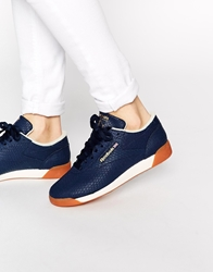 Reebok Lo Reptile Print Trainers Navy