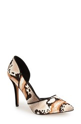 Women's Nicole Miller 'Camilla' Pointy Toe Pump Calico Pony Hair