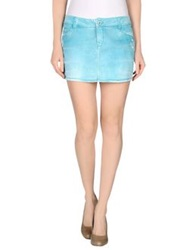 Jfour Denim Skirts Light Green