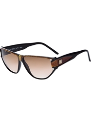 Givenchy Vintage Aviator Sunglasses Brown