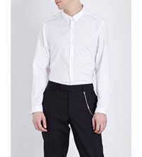 The Kooples Fitted Cotton Shirt White