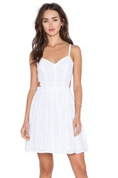 Sam Edelman Cut Out Eyelet Dress White