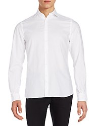 J. Lindeberg Slim Fit Cotton Sportshirt Off White
