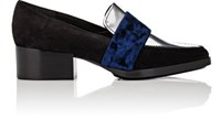 3.1 Phillip Lim Women's Quinn Suede And Leather Loafers Silver