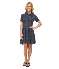 Mountain Khakis Wildflower Dress Clear Blue Women's Dress