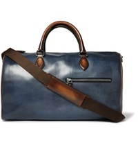 Berluti Jour Off Polished Leather Holdall Navy