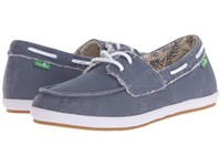 Sanuk Sailaway 2 Fray Slate Blue Women's Slip On Shoes