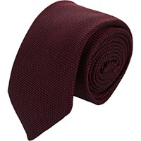 Barneys New York Men's Grenadine Neck Tie Red