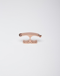 Maison Martin Margiela Line 11 Thick Double Finger Ring Pink Gold