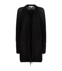 Maje Melomane Fringe Cardigan Female Black