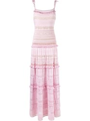 Cecilia Prado Long Knit Dress Pink Purple