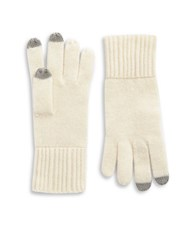 Lord And Taylor Cashmere Tech Gloves Ivory