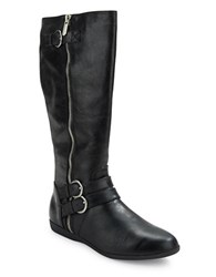 Me Too Freja Leather Riding Boots Black