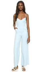 Bb Dakota Elliot Denim Jumpsuit With Tie Back Light Blue
