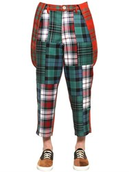 Comme Des Garcons Boy Patchwork Wool Pants And Suspenders
