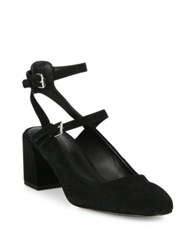 Rebecca Minkoff Brooke Suede Mary Jane Block Heel Pumps Black