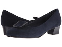 David Tate Ariana Navy Suede Women's Sandals Blue
