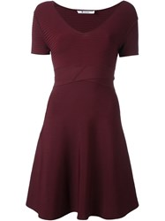 Alexander Wang T By Crisscross Waist Dress Red