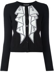Boutique Moschino Buttons Detailing Turtleneck Pullover Black