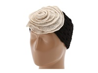 San Diego Hat Company Knh3272 Knit Flower Headband Black W Ivory Bow Traditional Hats