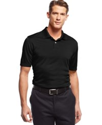 John Ashford Short Sleeve Solid Textured Performance Polo Deep Black