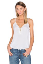 House Of Harlow X Revolve Leah Sheer Inset Cami White
