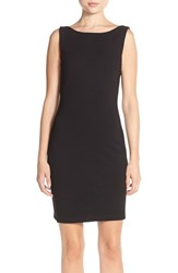 Women's Amanda Uprichard 'Stevie' Fringe Back Ponte Sheath Dress