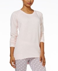 Alfani High Low Pajama Tunic Only At Macy's Pink Heather
