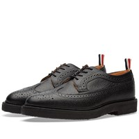 Thom Browne Classic Crepe Sole Longwing Brogue Black