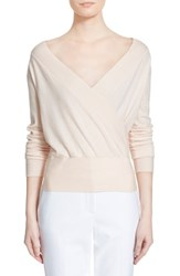Women's Nordstrom Signature And Caroline Issa 'Carrie' Surplice Cashmere Blend Pullover
