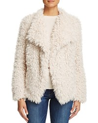 Vero Moda Jayla Shaggy Faux Fur Coat Off White