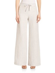 Lafayette 148 New York High Rise Drawstring Linen Pants Vapor